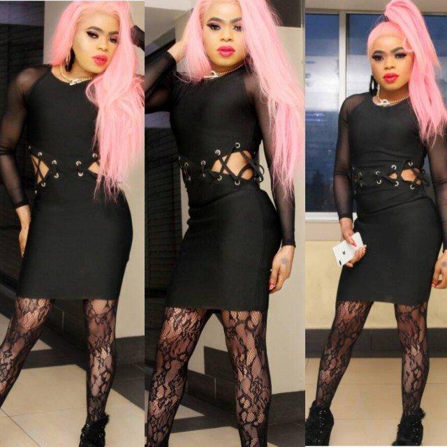 Bobrisky Flaunts His Curves In Sexy Black Dress Naija Live Tv