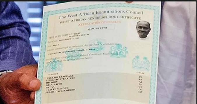 President Muhammadu Buhari WAEC Certificate