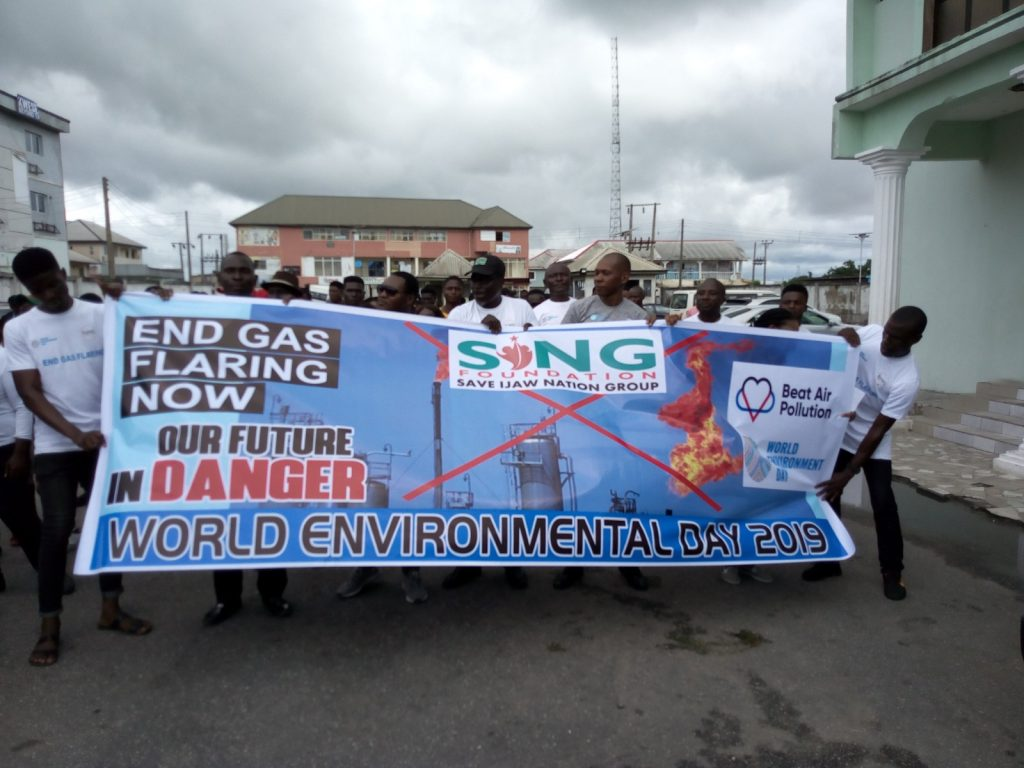 World Enviroment Day: Group calls for end to Gas flaring in Bayelsa ... hold public procession